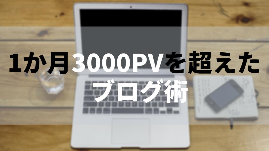 初心者ブロガー3000PV