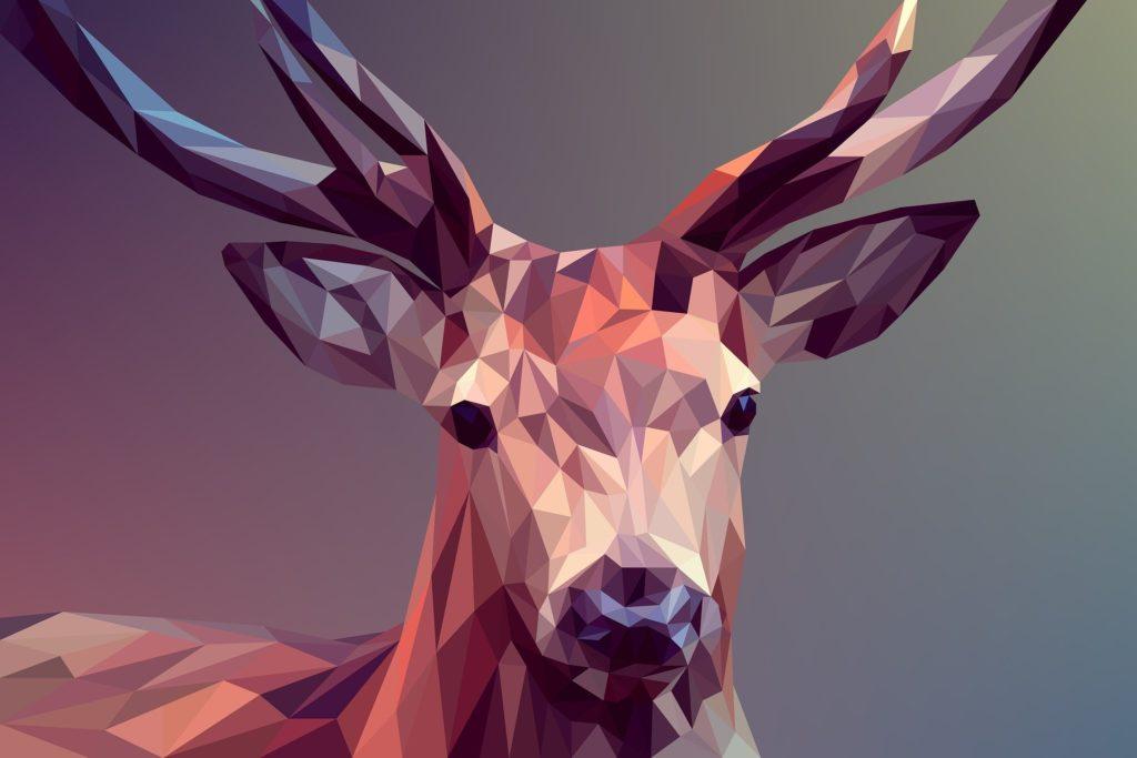 ポリゴンの鹿