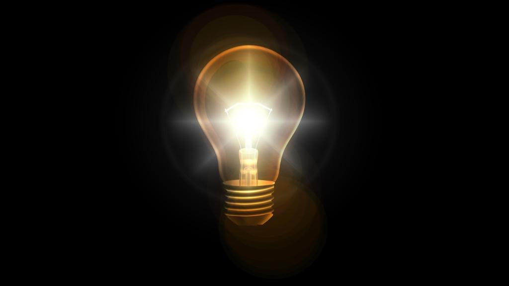 名案、電球の画像