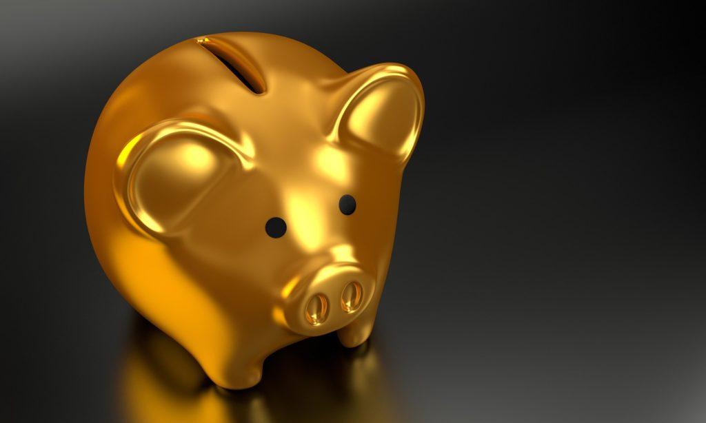 豚の貯金箱画像