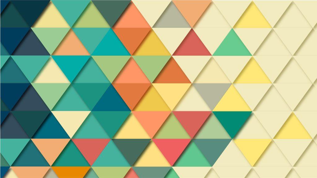 カラフルな三角形の集まり画像